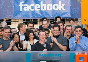 facebook floated on nasdaq